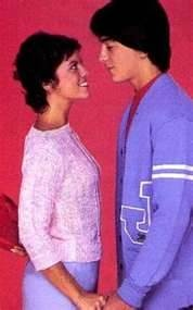 joanie and chachi from Joanie Loves Chachi and Happy Days. ;)