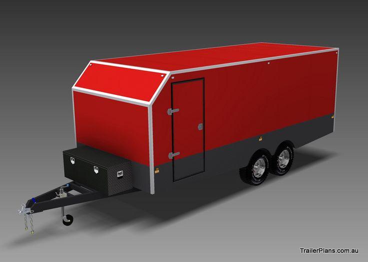 ENCLOSED TRAILER - 6000 X 2400mm - TRAILER PLANS - Build your own trailer www.trailerplans.com.au