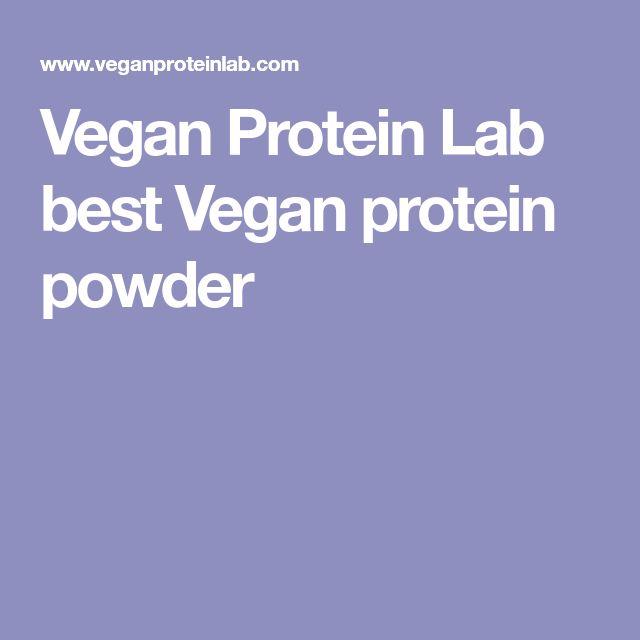 Vegan Protein Lab best Vegan protein powder