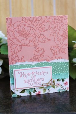 Stamoin Up Birthday Blooms Card by The Stampin B