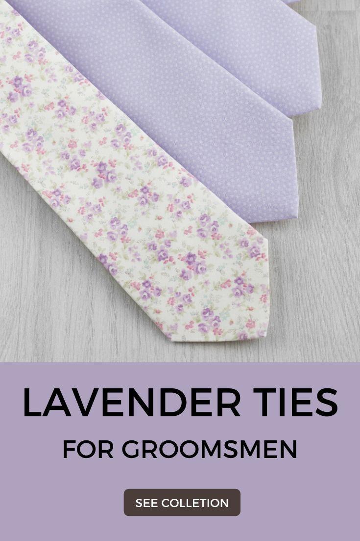 Purple Lavender Tie And Matching Pocket Square Set Lilac Wedding Cotton Necktie Handkerchief For Groom Groomsmen Gift In 2020 Lavender Tie Purple Wedding Inspiration Groom And Groomsmen