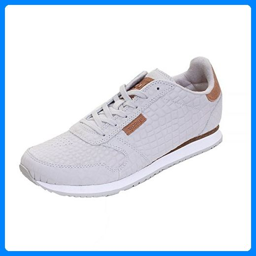 Woden Ydun Croco Womens Baskets UK8 EU42 US11.5 050 Light grey - Sneakers für frauen (*Partner-Link)