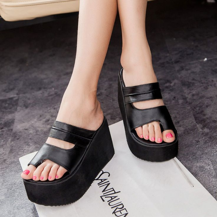 Ucuz Yaz yeni varış 2016 çevirme platformu takozlar sandalet kadın ayak sarma plaj terlik kadın ayakkabı sandalet, Satın Kalite kadın sandalet doğrudan Çin Tedarikçilerden:        bizim ürün kadın boyutu standart (hata-1 için 1 cm)  US4.0 = EUR34 = 215-220mm  US4.5 = EUR35 = 220-225mm  US5.5