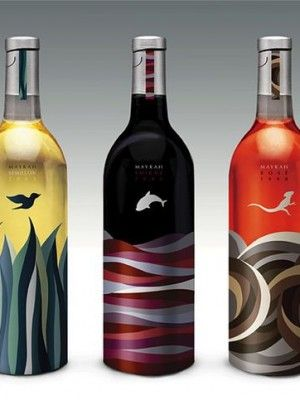 Wine label nature