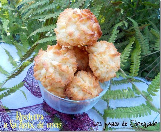 Des rochers à la noix de coco, un gâteau algérien à la noix de coco. Il est diffèrent un peu des congolais, simple et rapide à faire, et ça se mange tout s