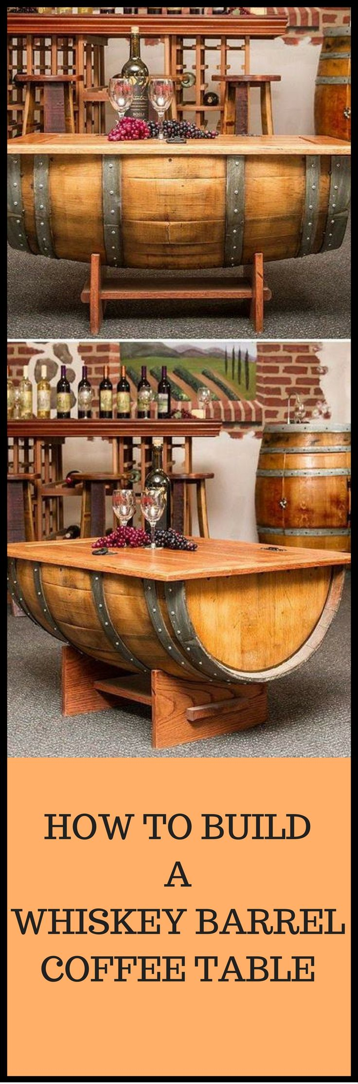 How To Build A Whiskey Barrel Coffee Table Http://vid.staged.