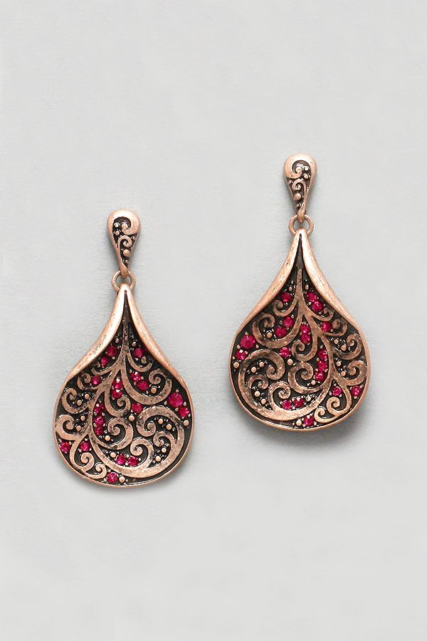 Avery Earrings in Copper | Women's Clothes, Casual Dresses, Fashion Earrings & Accessories | Emma Stine Limited