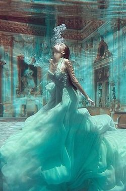 pretty beauty girls girl fashion Glitter dress glamour beautiful gorgeous style luxury water rich underwater girly turquoise surreal glam prom victorian haute couture grace marie antoinette 18th century gown