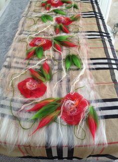 www.nadinsmo.com Burberry Baby- Handmade nuno felting from pure merino wool and natural silk-chiffon