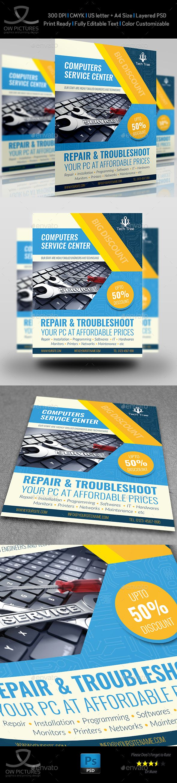 Computer Services Flyer Template - #Commerce #Flyers