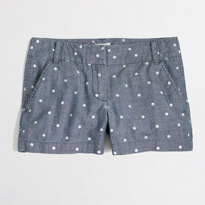 Jcrew | DOTTED CHAMBRAY SHORT