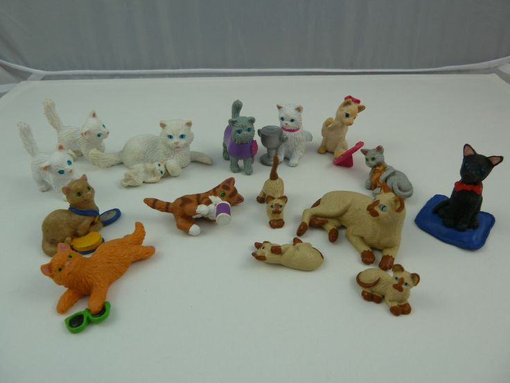 Joblot Of 48 Kitty Puppy Pony Teddy In My Pocket Vintage Meg Animal