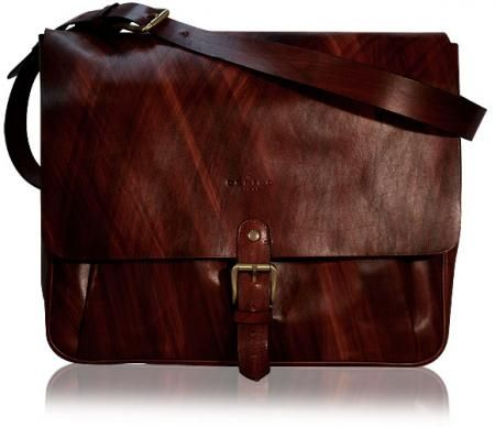 """Postino Laptop Messenger (Handstained Mahogany Leather)  Inspired by the timeless design of the postman's bag, this roomy messenger is the ultimate in vintage luxury for your 15"""" or smaller laptop. We have crafted this case in Orbino's signature handstained mahogany leather. The Orbino Postino Laptop Messenger is a masterpiece in design and functionality, http://www.orbino.com/store/product_info.php?products_id=322"""