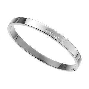 DAM - Armband i silver med valfri gravyr, 18 cm