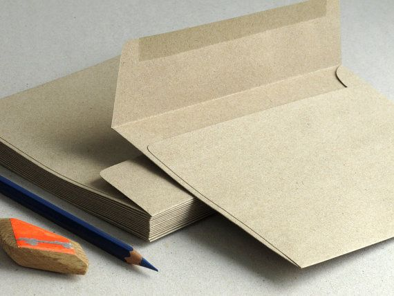 50 A7 5x7 Brown Kraft Envelopes Strait Flap for by SQUISHnCHIPS