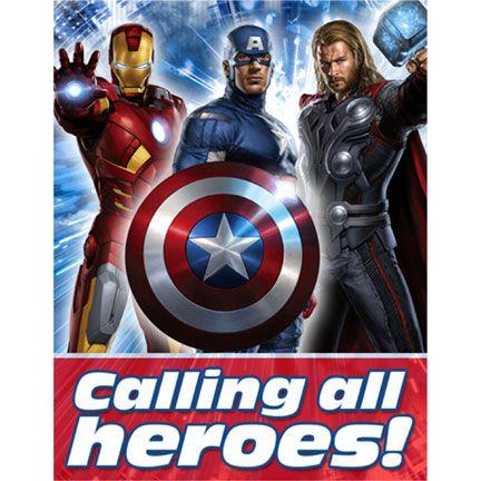 The Avengers Invitation!