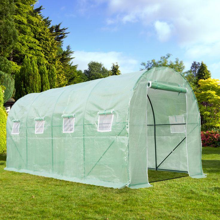 CASUN GARDEN Portable Outdoor Walk-in Greenhouse 15X7'X7' Garden Hot House