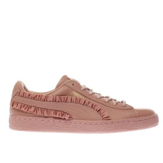 hot sales 1c64d 01d90 womens pink puma basket classic frill trainers | schuh ...