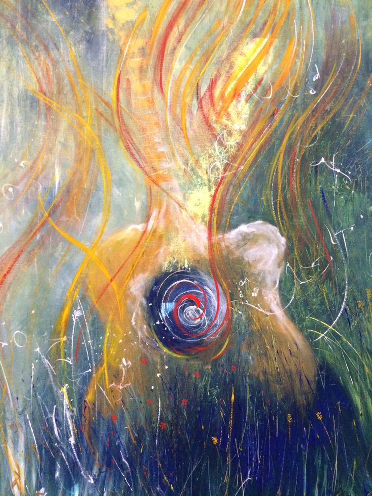 The Colour of Sound. Prophetic art painted live at Friends First Church Melbourne 2015