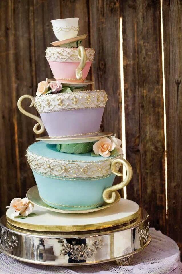 This beautiful tea cup cake would look amazing as the centre piece at any afternoon tea.