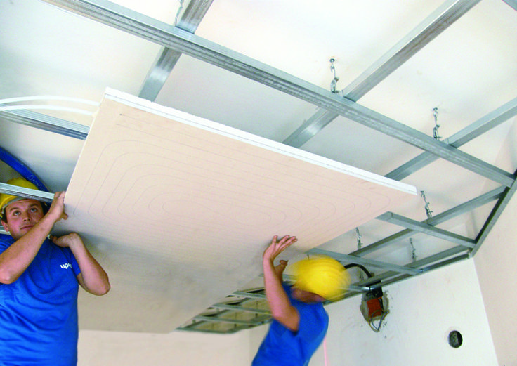 Climatizaci n invisible por techo radiante gypsum panel de for Panel aislante termico