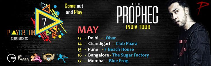 The PropheC India Tour  Create music which resonates with people's hearts Come out and Play  #Delhi #ClubNights #Obar #BlueFrog #ClubPaara
