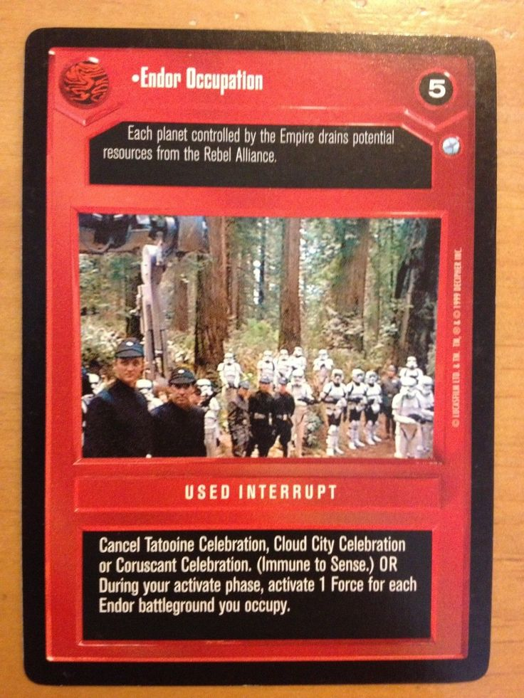 Star Wars CCG Endor  Endor Occupation NrMint-MINT SWCCG