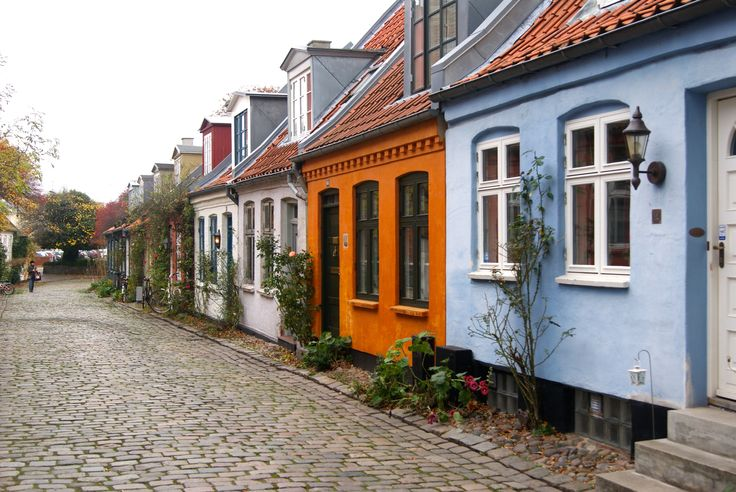 Cobble stone streets in the old part of the city create charming atmosphere . Aarhus is beautiful and easy to walk by foot without any transport.