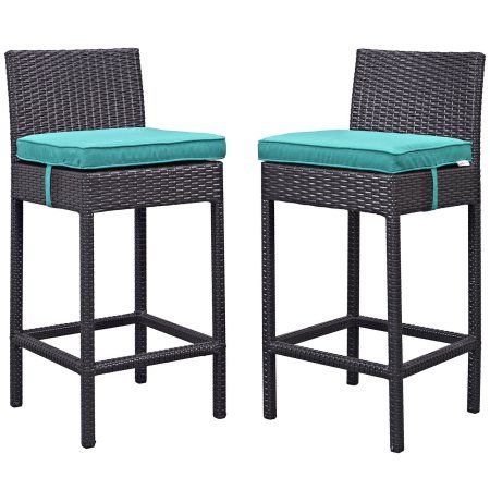 Free Shipping. Buy Modway Journey Faux Rattan Outdoor Patio Bar Stool (Set of 2) at Walmart.com
