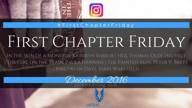 Don't know what #FirstChapterFriday is? In the Skin of a Monster, Kathryn Barker The good The voice in this book was immediate and fantastic. I knew this girl immediately and was interested in what she was doing and what she had to say. I learnt about how three years beforehand, when they were both fourteen, …