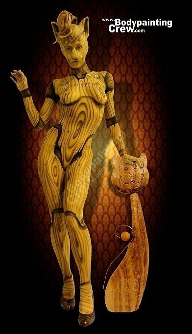 Galerie - Bodypainting Arts Berlin #Bodypainting - Woodcat