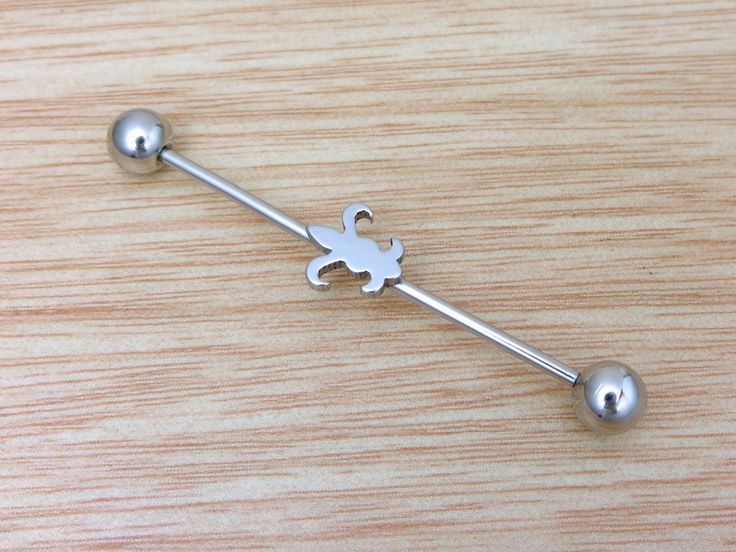 Industrial Barbell,Body Jewelry,Upper Double Ear,Cartilage,Helix,16g,316L,NJ27-1 by MirYumJewelry on Etsy