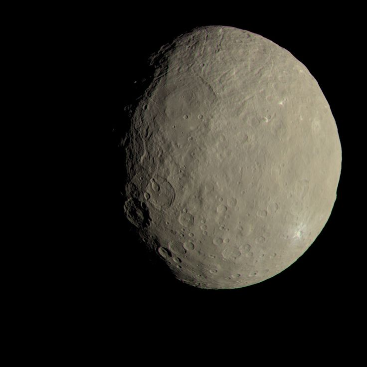 This image of Ceres from NASA's Dawn spacecraft approximates how the dwarf planet's colors would appear to the eye.