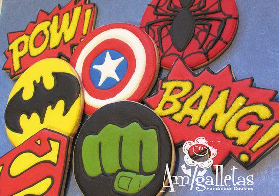 Superheroes Cookies by Amigalletas on Etsy