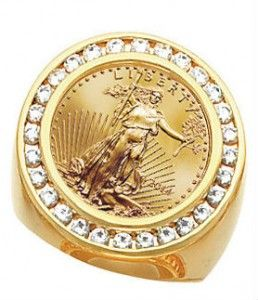 Image result for gold coin ring