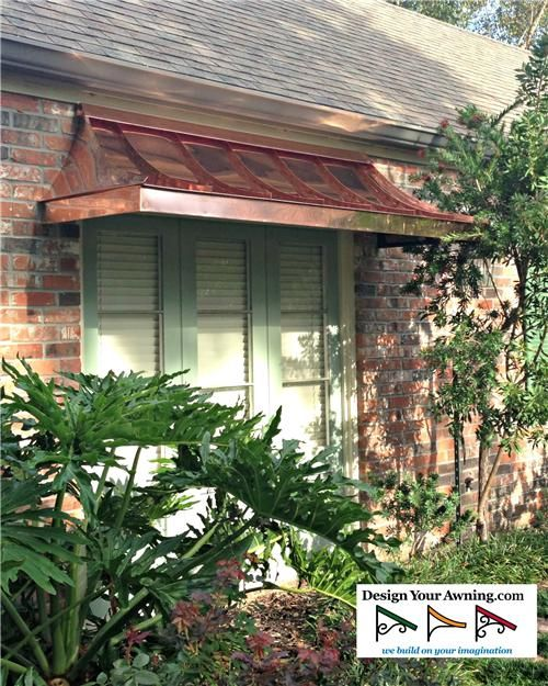 The Copper Juliet Awning Just Like This For Front Window