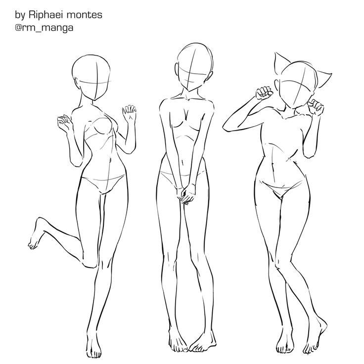 Картинки для срисовки тело девушки в позах