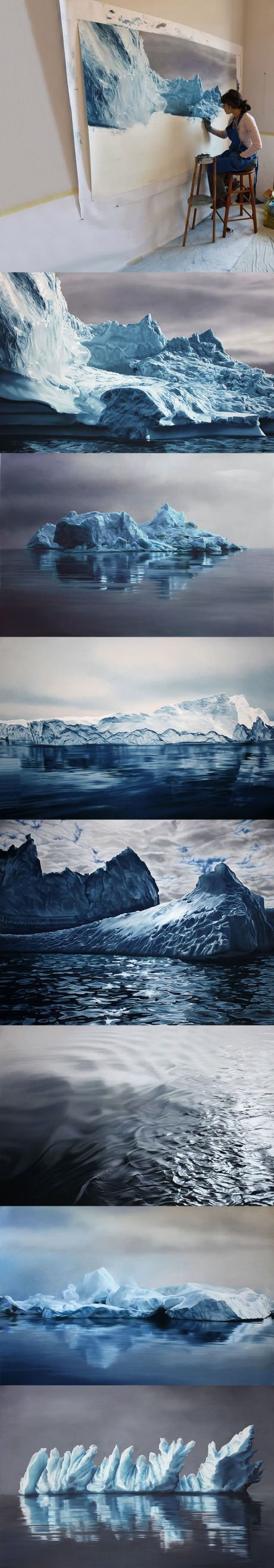Epic icebergs drawings that look real