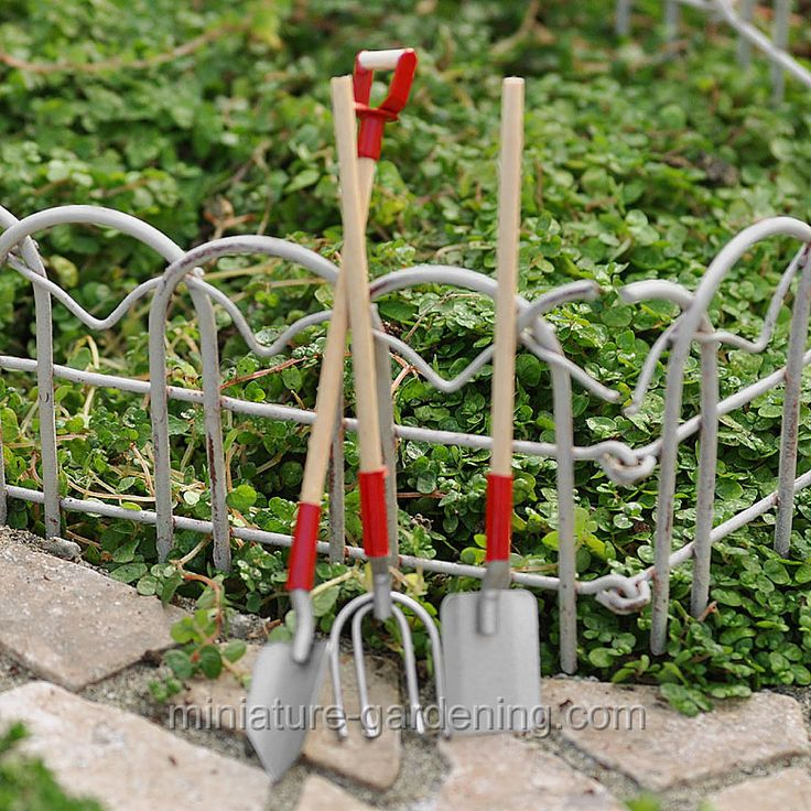 17 best images about mini garden tools on pinterest for Miniature garden tools