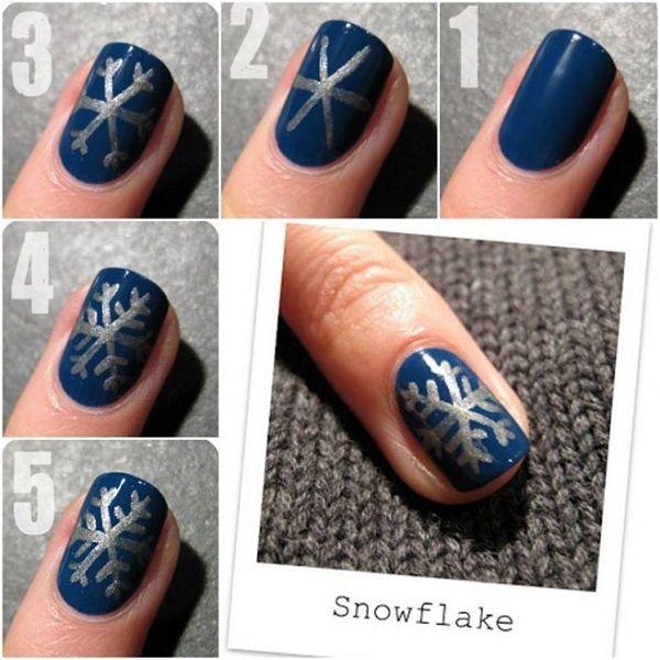Snowflake Nail Art Tutorial: Best 25+ Snowflake Nail Art Ideas On Pinterest