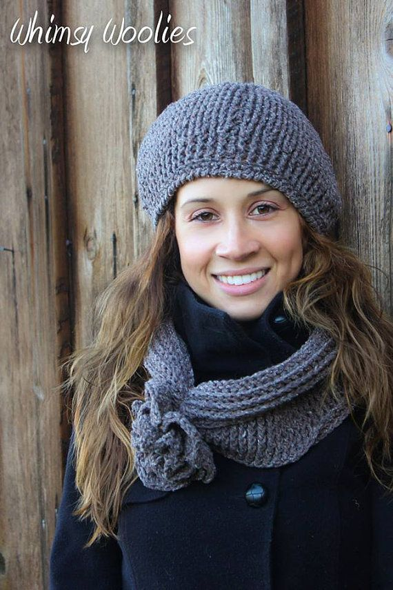 Pattern Ciao Bella Beret & Infinity Scarf Crochet by whimsywoolies