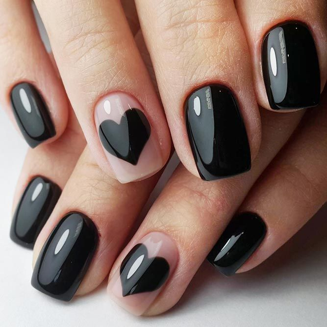 27 Totally Cool Black Nails Designs Inspired by Notable Runway Moments - Best 25+ Black Nail Designs Ideas On Pinterest Black Nail, Matte
