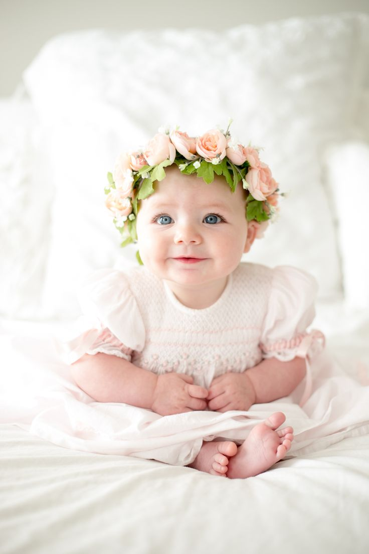6 month pictures flower crown