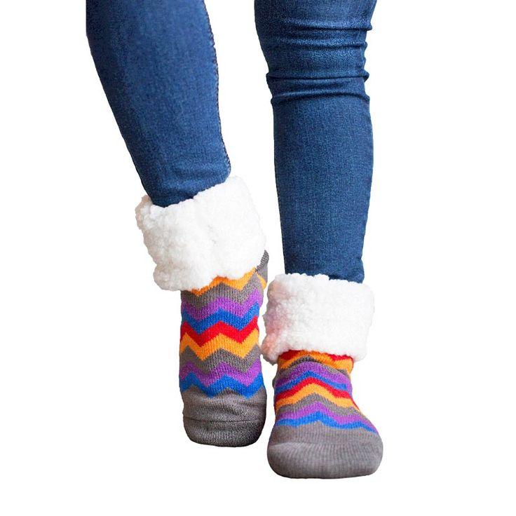 #stylestylePudus Multicolour Chevron Socks with Soft Fluffy Lining  #chevron #socks #style #fashion