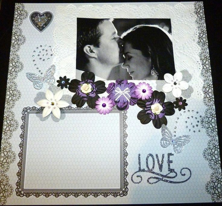 """SCRAPBOOK PAGE 12 X 12 HANDMADE....""""LOVE""""...reduced to $9.99"""