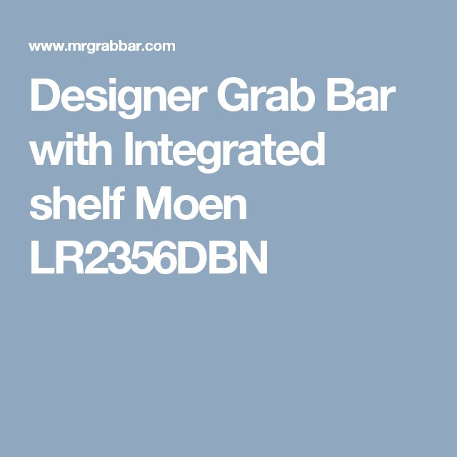 Designer Grab Bar with Integrated shelf Moen LR2356DBN