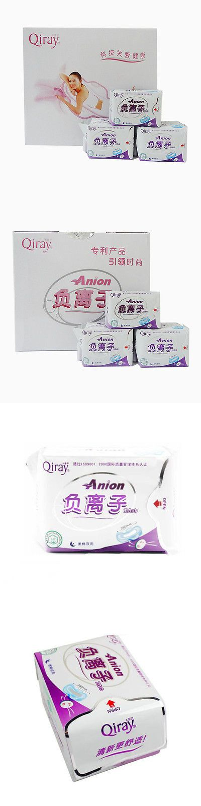 Sanitary Napkins: 19 Packages Winalite Qiray Anion Sanitary Napkins No Fluorescent Agent Night Use BUY IT NOW ONLY: $75.85