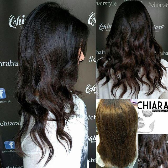 #chocolate #cool #hair ...#bari #haisalon #quality .. @chiara_hairdressing @wellahair