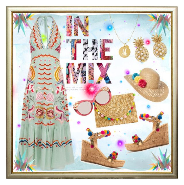 """In the mix"" by summer-marin ❤ liked on Polyvore featuring Temperley London, Capelli New York, Mabu, Sydney Evan, La Sera, Jane Basch, Krystal and Jimmy Choo"
