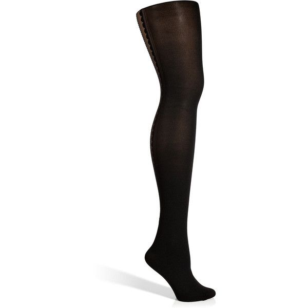 Fogal Black/Black Bijoux Tights (135 BAM) ❤ liked on Polyvore featuring intimates, hosiery, tights, black, opaque tights, opaque pantyhose, fogal hosiery, holiday tights and fogal stockings